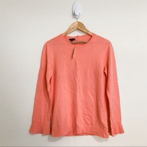 Talbots Coral Ruffle Sleeve Sweater Small NWT